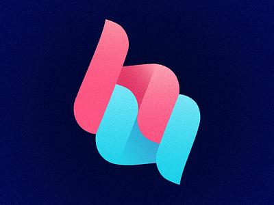 Hello User letter mark speechbubble logo