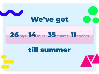 Daily UI Challenge 014 dailyui 014 dailyui 014 ui challenge summer countdown countdown web design daily ui challenge daily ui challenge 014