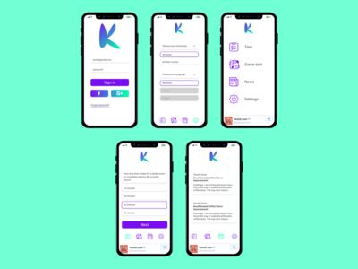 UI for a medical app user interface med app app design medical app ui mobile design