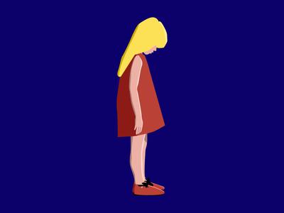 just a girl vector graphic desgin people girl illustration