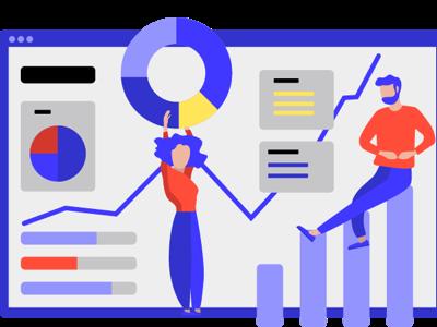 KPI metrics onboarding graphic design metrics kpi illustration