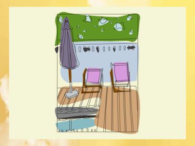 Summertime Sadness painting design practice vector web design design summer illustration