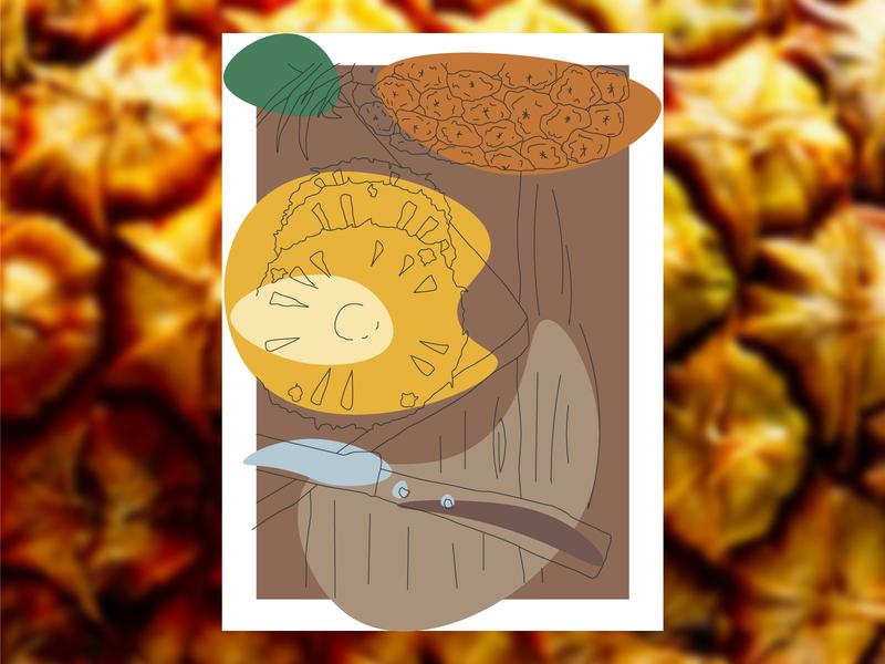 🍍  Illustration pineapple graphic design branding vector illustration design
