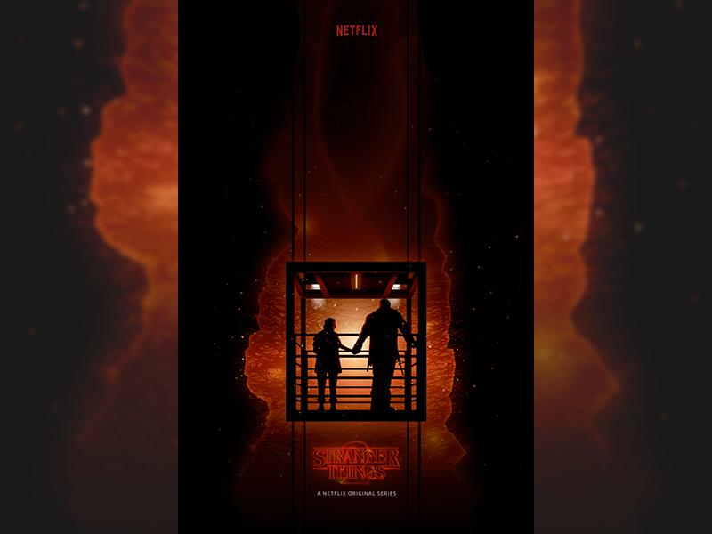 """""""Chapter 9 : The Gate"""" - Stranger Things 2 poster art fan art stranger things illustration poster mindflayer demodog demogorgon eleven things stranger"""