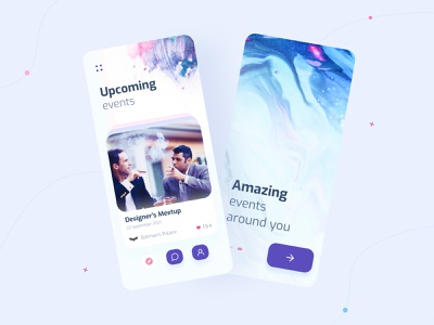 Event Finder App batman uidesign mobile apple ux ui typography clean overlaps bayzid events room booking conference meetup ios app finder event show