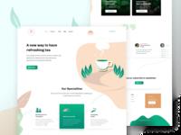Tea Company Landing page (Client project)