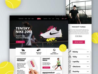Racket-vision Landing page / e-shop