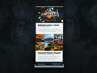 Havran pub 3/3 - ROLLUP modern web flat banner ad logo design havran print black banner