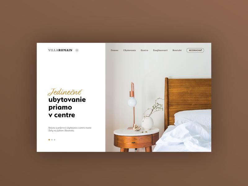 Villa Romaine - 1/3 - WEBSITE hotel ux minimalistic landing ui clean website web modern flat design