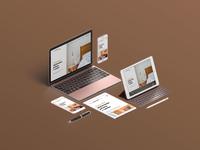Villa Romaine - 3/3 - WEBSITE2 hotel brown minimalistic ui clean web website modern flat design