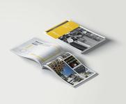 Portfolio Design - ASCgroup illustration minimalistic clean ui magazine modern flat white yellow design portfolio