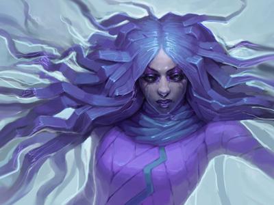 Dancing Witch 2d-art 2d art cg-art cg art digital art girl fantasy art concept art illustration character