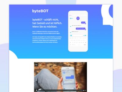 Website bytebot communication innovation future customer service ai messenger mascot bot chat chatbot website bytebot