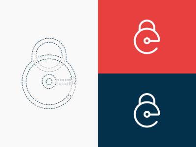 Easy Locker | Logo round closing security smooth branding easy locker logo