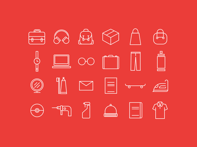 Easy Locker | Icons shapes minimal items marketing icons locker easy locker