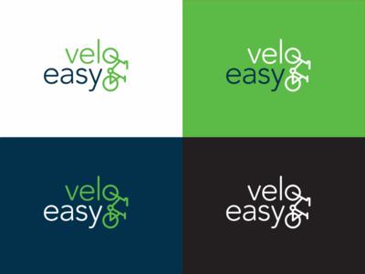 velo easy corporate branding identity velo new marketing icon brand logo bicycle