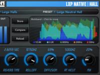 LXP Native Reverb Plug-in