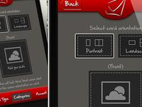 Card app (orientation screen)