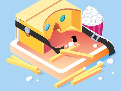 VR adobeforfun,popcorn,chips adobe illustration br vr