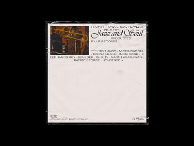 Album cover - Jazz & Soul typogaphy editorial design concept
