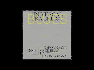 Album cover - Blues typogaphy editorial design concept