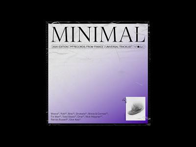 Album cover - Minimal minimalist typogaphy editorial design concept
