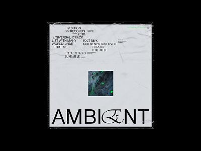 Album cover - Ambient minimalist typogaphy editorial design concept