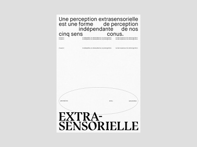 Perceptions extrasensorielles - Poster poster graphic design layout minimalist editorial typogaphy design concept