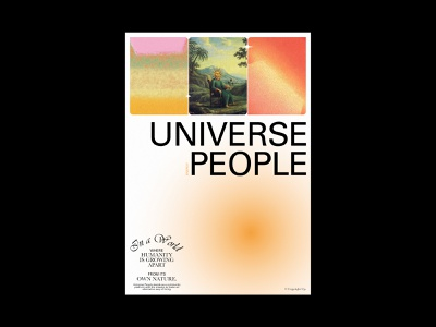 Universe People - Poster poster graphic design layout editorial typogaphy design concept