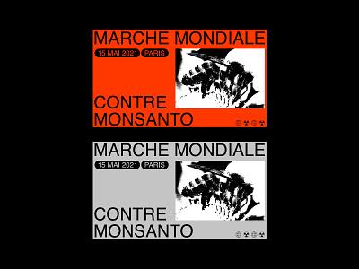 Marche Mondiale Contre Monsanto - Visual n2 graphic design layout editorial typogaphy design concept