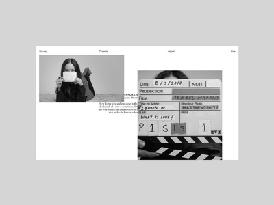 Convoy website - Isabel Marant, layout design