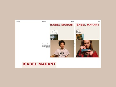 Convoy website - Isabel Marant, layout design