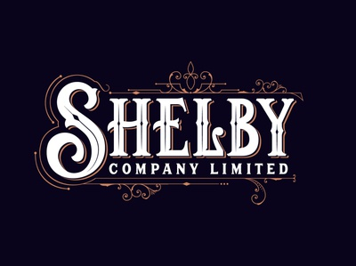 Shelby Company Limited caligraphy typography letter illustrator absynth whisky gold filiature ornament netflix tommy shelby vintage lettering vitorian company logo company shelby