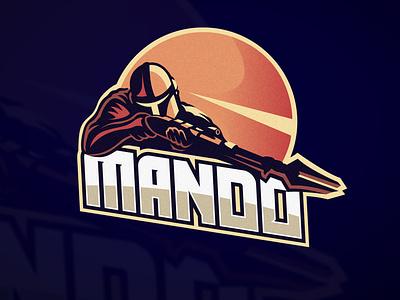 Mando logo baby yoda yoda customtype typography letter illustrator e-sport disney tvshow badge nba esport logo mando star wars mandalorian