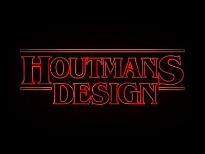 Houtmans Design Stranger Things like red adobe illustrator netflix show tv like things stranger design houtmans