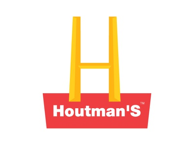 Houtmans McDonald's like logo illustrator adobe like houtmans mcdonalds