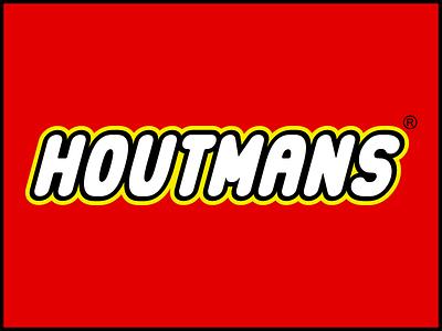 Houtmans Lego Like ai adobe illustrator logo designer like lego houtmans