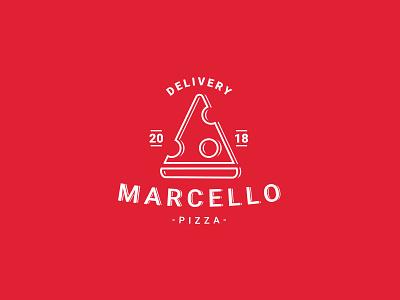 Marcello Pizza ai adobe freelance design logo illustrator delivery marcello pizza