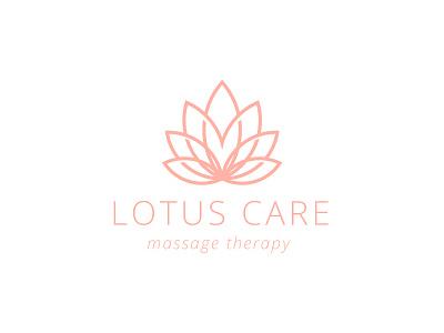 Lotus Care - massage therapy logo design therapy massage flower care lotus ai illustrator adobe
