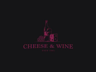 Cheese & Wine graphic designer illustrator adobe ai logo wine cheese