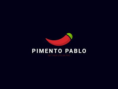 Pimento Pablo circle illustrator adobe ai design logo pablo pepper chilli pimento