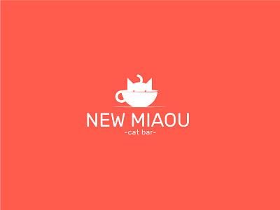 New Miaou - cat bar animal ai adobe illustrator logo miaou new bar cat