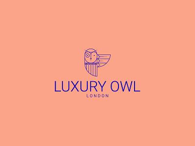 LUXURY OWL- LONDON designer brussels ai illustrator adobe klein london elegant luxury logo owl