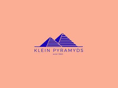 KLEIN PYRAMYDS freelance adobe ai logo illustrator bleu blue klein pyramide pyramyd