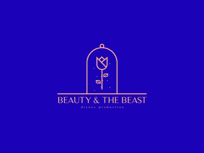 Beauty & The Beast klein adobe ai illustrator beast the beauty logo