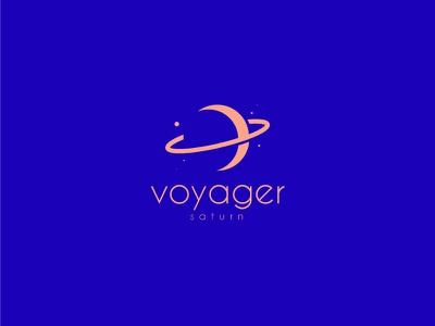 Voyager brussels freelance ai adobe illustrator logo space planet saturn voyager