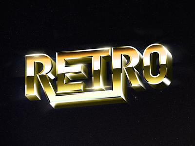 Retro VHS lettering logo
