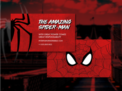 Business Card for The Amazing Spider-Man