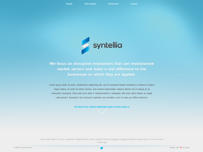 Syntellia.com OnePageScroll Website one page scroll website homepage design