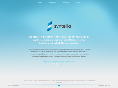Syntellia.com OnePageScroll Website